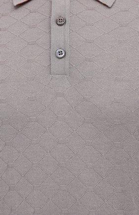 Мужское поло из кашемира и шелка ZILLI бежевого цвета, арт. MBU-PB038-CLCC1/ML02/AMIS | Фото 5
