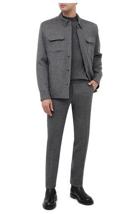 Мужская кашемировая куртка-рубашка ANDREA CAMPAGNA светло-серого цвета, арт. 94900H90V5202 | Фото 2