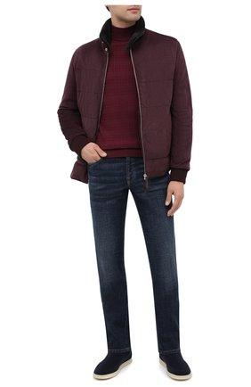 Мужская замшевая куртка ANDREA CAMPAGNA бордового цвета, арт. 94800H5H62900 | Фото 2