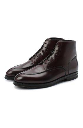Мужские кожаные ботинки W.GIBBS бордового цвета, арт. 0639006/0220 | Фото 1