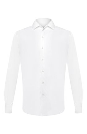 Мужская хлопковая рубашка LORO PIANA белого цвета, арт. FAL0383 | Фото 1