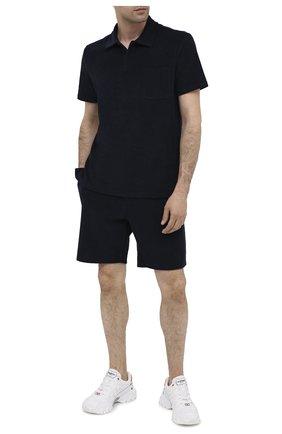 Мужские хлопковые шорты RALPH LAUREN темно-синего цвета, арт. 790786107 | Фото 2