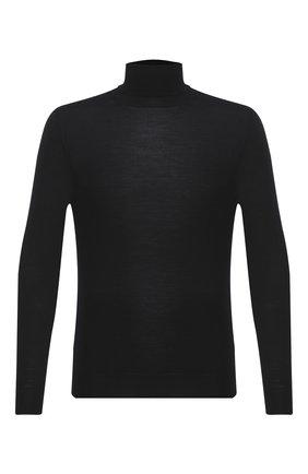 Мужской шерстяная водолазка CRUCIANI черного цвета, арт. CU26.201   Фото 1