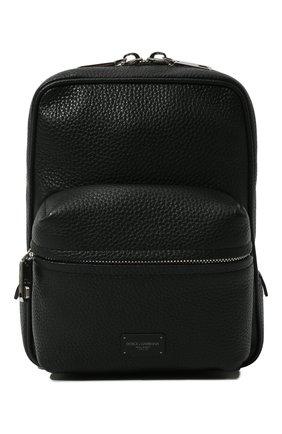 Мужской кожаный рюкзак palermo DOLCE & GABBANA черного цвета, арт. BM1874/AZ319 | Фото 1