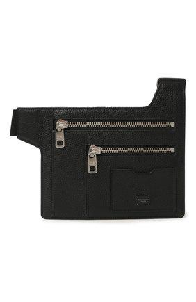 Мужская кожаная поясная сумка palermo DOLCE & GABBANA черного цвета, арт. BM1837/AZ319 | Фото 1