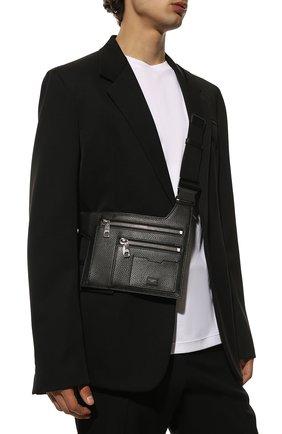 Мужская кожаная поясная сумка palermo DOLCE & GABBANA черного цвета, арт. BM1837/AZ319 | Фото 2