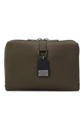 Мужская текстильная сумка soft dna DOLCE & GABBANA хаки цвета, арт. BM1811/AW309 | Фото 1