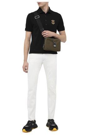 Мужская текстильная сумка soft dna DOLCE & GABBANA хаки цвета, арт. BM1811/AW309 | Фото 2
