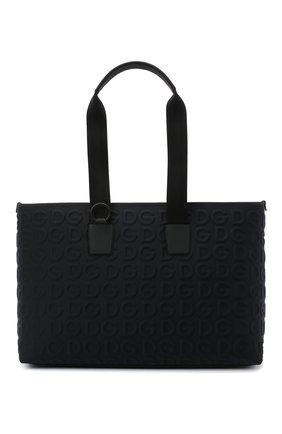 Мужская текстильная сумка DOLCE & GABBANA черного цвета, арт. BM1767/AW141 | Фото 1