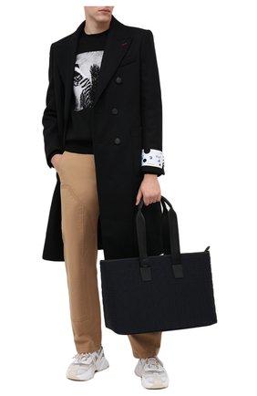 Мужская текстильная сумка DOLCE & GABBANA черного цвета, арт. BM1767/AW141 | Фото 2