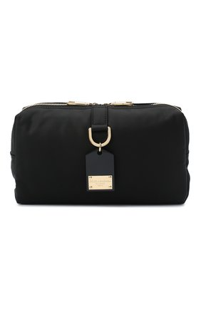 Мужская текстильная поясная сумка DOLCE & GABBANA черного цвета, арт. BM1750/AW309 | Фото 1