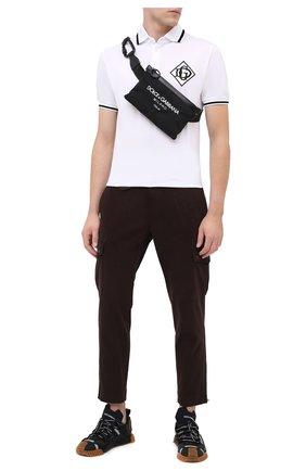 Мужская текстильная поясная сумка palermo tecnico DOLCE & GABBANA черно-белого цвета, арт. BM1730/AW140 | Фото 2