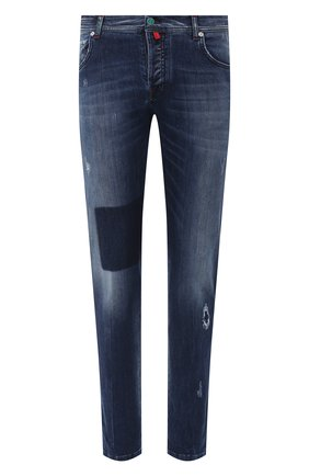Мужские джинсы KITON темно-синего цвета, арт. UPNJS/J02T70 | Фото 1