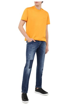 Мужские джинсы KITON темно-синего цвета, арт. UPNJS/J02T70 | Фото 2