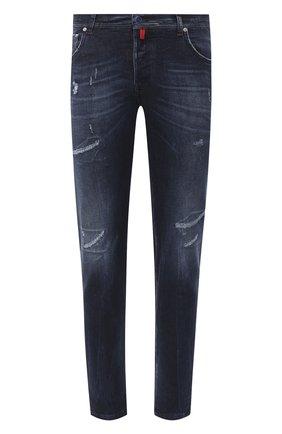 Мужские джинсы KITON темно-синего цвета, арт. UPNJS/J02T68 | Фото 1