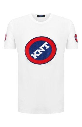 Мужская хлопковая футболка KNT белого цвета, арт. UMM0073 | Фото 1