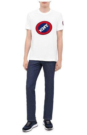Мужская хлопковая футболка KNT белого цвета, арт. UMM0073 | Фото 2