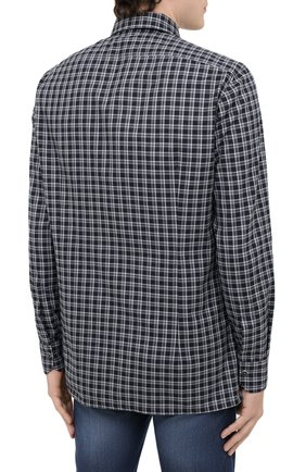 Мужская хлопковая рубашка KITON серого цвета, арт. UMCNERHH0747214 | Фото 4