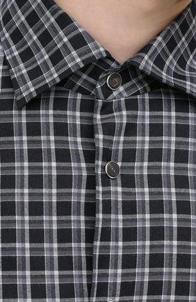 Мужская хлопковая рубашка KITON серого цвета, арт. UMCNERHH0747214 | Фото 5