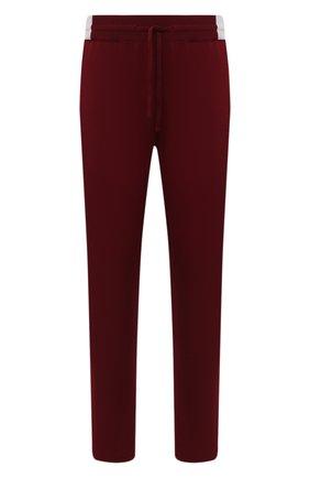 Мужской кашемировые брюки KITON бордового цвета, арт. UK1201 | Фото 1