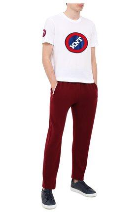 Мужской кашемировые брюки KITON бордового цвета, арт. UK1201 | Фото 2