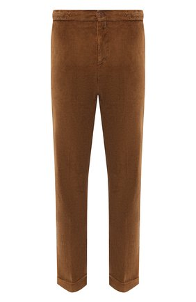 Мужской брюки из хлопка и кашемира KITON светло-коричневого цвета, арт. UFPLACJ02T46   Фото 1