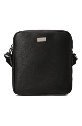 Мужская кожаная сумка KITON черного цвета, арт. UBMESSN00815   Фото 1 (Ремень/цепочка: На ремешке; Материал: Натуральная кожа)