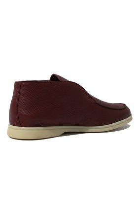 Мужские кожаные ботинки open walk LORO PIANA красного цвета, арт. FAI3276   Фото 5