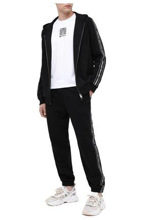 Мужской хлопковые джоггеры BURBERRY черного цвета, арт. 8026230 | Фото 2