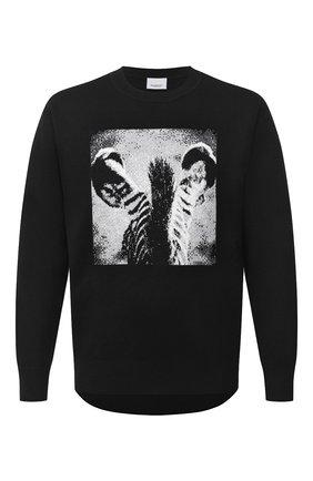 Мужской шерстяной джемпер BURBERRY черного цвета, арт. 8030701 | Фото 1