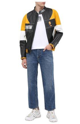 Мужская хлопковая футболка BURBERRY белого цвета, арт. 8030926 | Фото 2