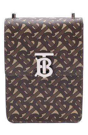 Мужская сумка valencia BURBERRY коричневого цвета, арт. 8032898 | Фото 1