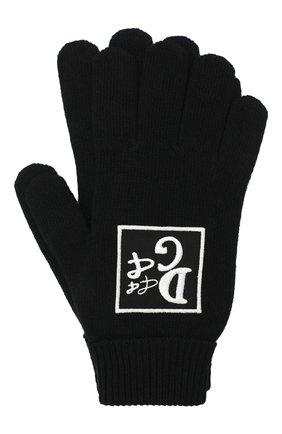 Мужские шерстяные перчатки DOLCE & GABBANA черного цвета, арт. GXB56Z/JAVXV | Фото 1