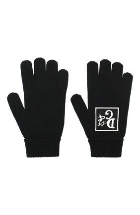 Мужские шерстяные перчатки DOLCE & GABBANA черного цвета, арт. GXB56Z/JAVXV | Фото 2