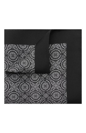Мужской шелковый платок DOLCE & GABBANA черно-белого цвета, арт. GR412E/G0W0G | Фото 1
