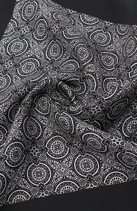Мужской шелковый платок DOLCE & GABBANA черно-белого цвета, арт. GR412E/G0W0G | Фото 2