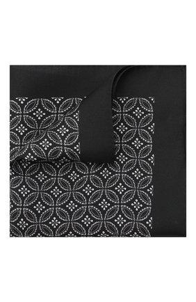 Мужской шелковый платок DOLCE & GABBANA черно-белого цвета, арт. GR412E/G0W0E | Фото 1
