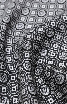 Мужской шелковый платок DOLCE & GABBANA черно-белого цвета, арт. GR412E/G0W0C | Фото 2
