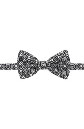 Мужской шелковый галстук-бабочка DOLCE & GABBANA черно-белого цвета, арт. GR053E/G0XBH | Фото 1
