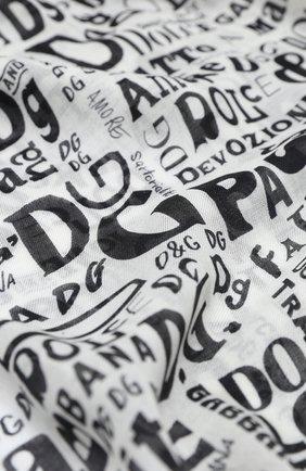 Мужской шарф DOLCE & GABBANA черно-белого цвета, арт. GQ213E/G3SHJ | Фото 2