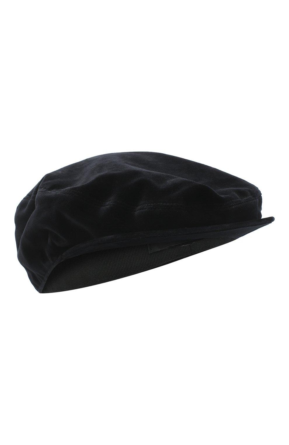 Мужская хлопковое кепи DOLCE & GABBANA черного цвета, арт. GH587A/FUVG7 | Фото 1