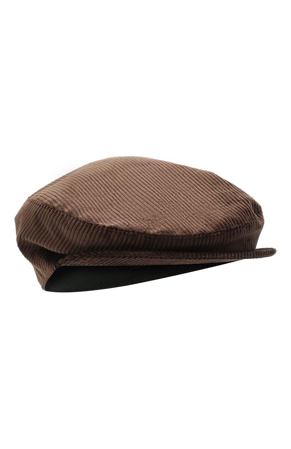 Мужская хлопковое кепи DOLCE & GABBANA коричневого цвета, арт. GH587A/FUVC7 | Фото 1