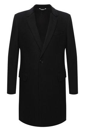 Мужской шерстяное пальто DOLCE & GABBANA черного цвета, арт. G007ST/HUMJ2 | Фото 1