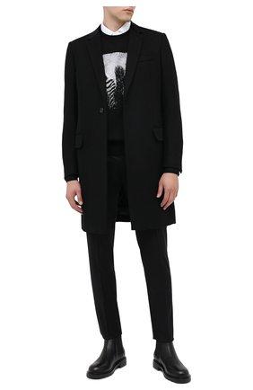 Мужской шерстяное пальто DOLCE & GABBANA черного цвета, арт. G007ST/HUMJ2 | Фото 2
