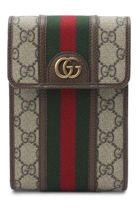 Мужская сумка ophidia GUCCI бежевого цвета, арт. 625757/96IWT | Фото 1