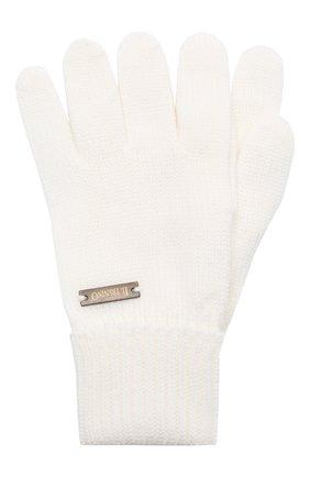 Детские шерстяные перчатки IL TRENINO белого цвета, арт. 20 4055/E0 | Фото 1
