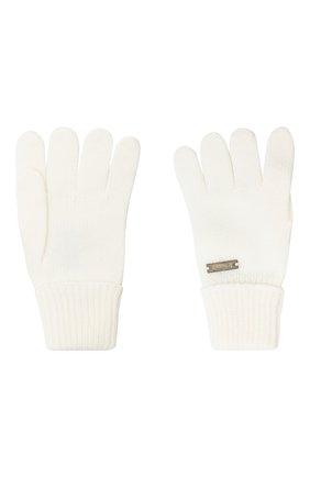 Детские шерстяные перчатки IL TRENINO белого цвета, арт. 20 4055/E0 | Фото 2