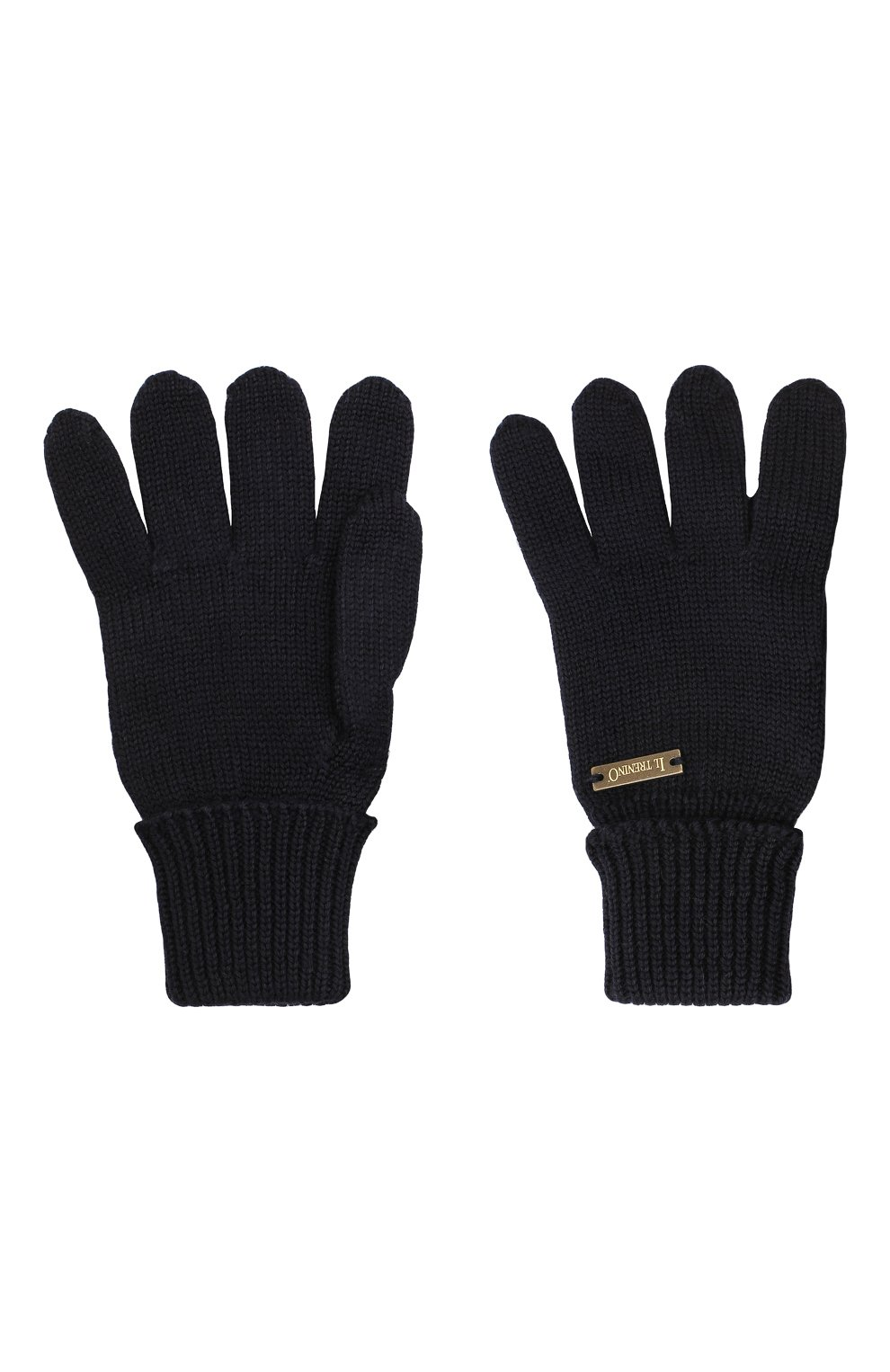 Детские шерстяные перчатки IL TRENINO темно-синего цвета, арт. 20 4055/E0 | Фото 2