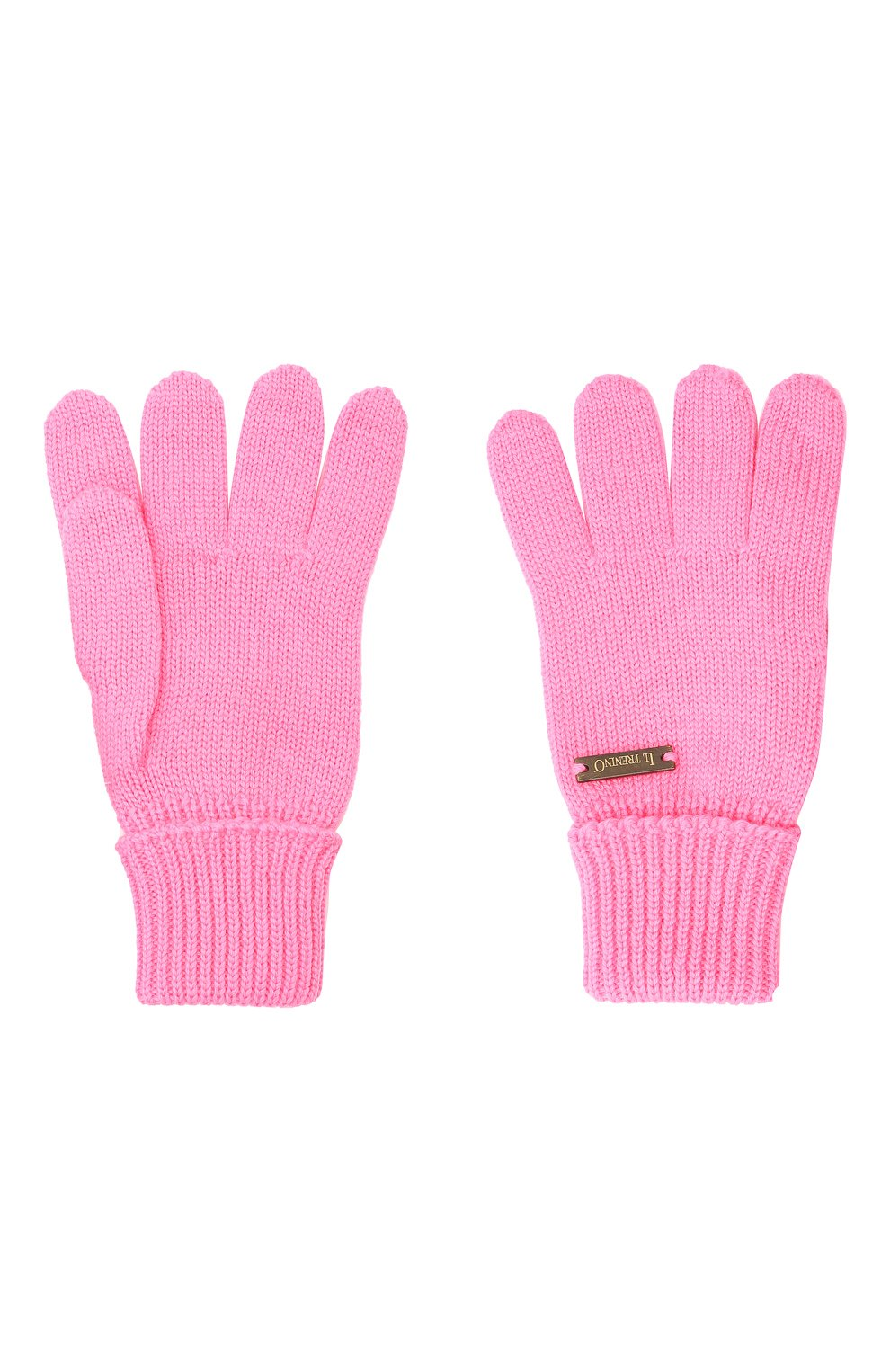 Детские шерстяные перчатки IL TRENINO розового цвета, арт. 20 4055/E0   Фото 2