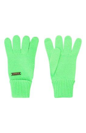Детские шерстяные перчатки IL TRENINO салатового цвета, арт. 20 4055/E0 | Фото 2